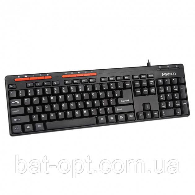 Клавіатура дротова Meetion MT-K600M чорна