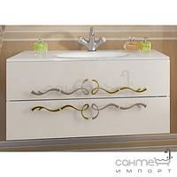 Мебель для ванных комнат и зеркала Marsan Тумба подвесная без раковины Marsan Dominik белый, ручки золото