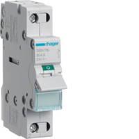 SBN116 Выключатель нагрузки (рубильник) 230В/16А, 1-полюсный, 1м, (Hager)