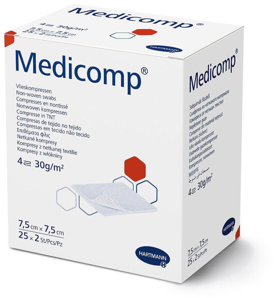 Medicomp 7,5х7,5см - Стерильні сорбційні серветки з нетканого матеріалу (2*25 шт)
