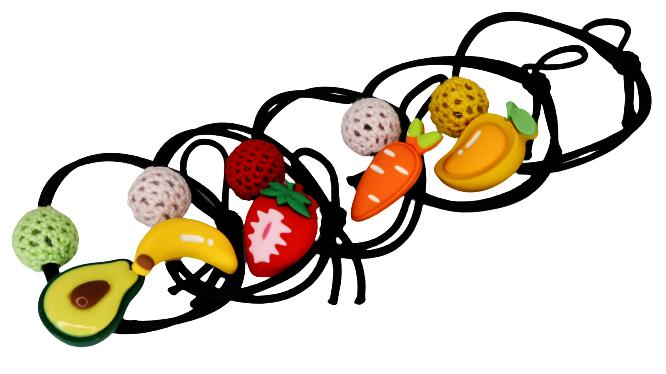 """Резинка для волосся """"фрукти"""" (5шт)"""