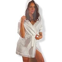 Вафельный халат Maison Dor Greek хлопок белый