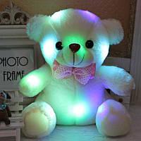 Светящийся мишка 38 см БЕЛЫЙ | Мягкая игрушка медведь