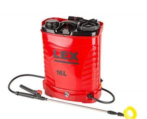 Аккумуляторный Опрыскиватель LEX AES-16 PROFi : 15 Ач | 8 часов беспрерывной работы