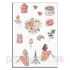 Весенний париж вафельная картинка