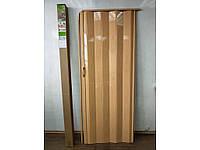 Двері міжкімнатні гармошка глуха, Сосна медова 10, 810х2030х6мм