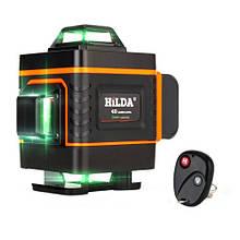 Профессиональный лазерный уровень нивелир 16 линий 4x360град АКБ Hilda 4D ДУ
