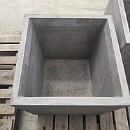 Вазон бетонний 500х500х500, фото 2