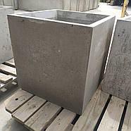 Вазон бетонний 500х500х500, фото 3