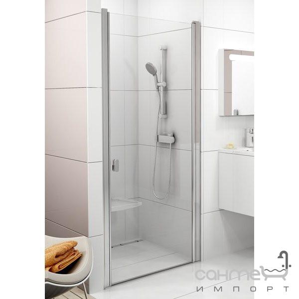 Душевые кабины, двери и шторки для ванн Ravak Душевые двери Ravak Chrome CSD1-90 полир. алюминий/прозрачное