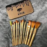 Профессиональные кисточки для макияжа Кайли 12 шт. | Кисти под макияж