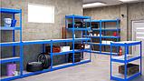 Стеллаж полочный 1800х1400х500мм, 300кг,4 полки с ДСП крашеный, стеллаж для офиса, склада, дома, фото 5