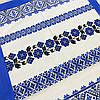 Вафельное полотенце украинское с голубыми цветами 45х70 см