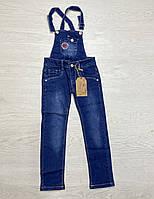 Джинсовый комбинезон для девочек. 116- 140 рост.