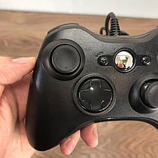 Джойстик Xbox 360 Controller проводной геймпад USB для икс бокс 360 черный, фото 3