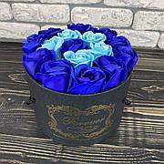 Мыльные розы букет из мыла в коробке подарочный набор мыльные цветы на подарок девушке маме жене