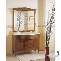 Мебель для ванных комнат и зеркала Gallo Комплект мебели Gallo Ginevra 115 Noce GS-115 мрамор Nero Marquina
