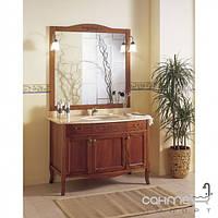 Мебель для ванных комнат и зеркала Gallo Комплект мебели Gallo Viola 120-S Noce Stracciato VS-115 мрамор Nero Marquina