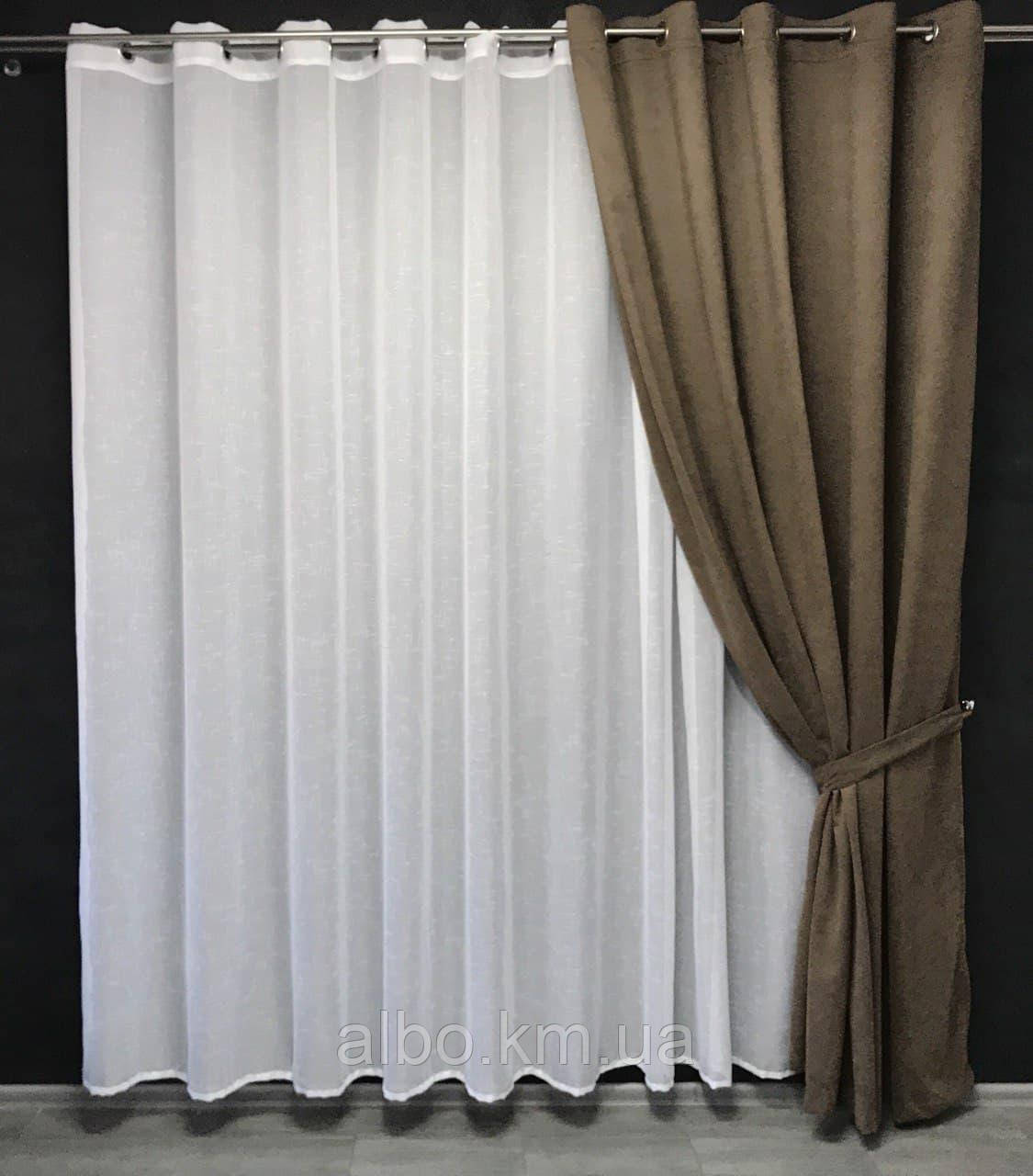Готові штори для залу спальні кухні, штора на люверсах в кімнату квартиру будинок кухню, мікровелюр для будинку спальні залу кухні
