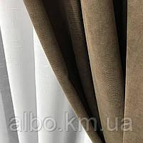 Готові штори для залу спальні кухні, штора на люверсах в кімнату квартиру будинок кухню, мікровелюр для будинку спальні залу кухні, фото 6