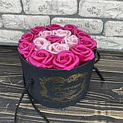 Мыльные розы букет из мыла в коробке подарочный набор мыльные цветы подарок девушке маме жене