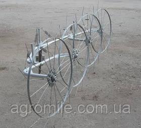 """Граблі-ворошилки (""""сонечко"""") ТМ Ярило (2,5 м, 4 колеса)"""