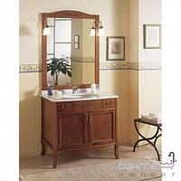 Мебель для ванных комнат и зеркала Gallo Комплект мебели Gallo Viola 90-S Noce Stracciato VS-90 мрамор Nero Marquina