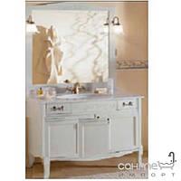 Мебель для ванных комнат и зеркала Gallo Комплект мебели Gallo Viola 120-S Patinata avorio VP-115 мрамор Nero Marquina