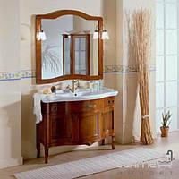 Мебель для ванных комнат и зеркала Gallo Комплект мебели Gallo Iris Inlay 110-S Noce Stracciato II-110 мрамор Nero Marquina