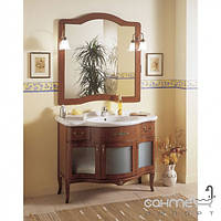 Мебель для ванных комнат и зеркала Gallo Комплект мебели Gallo Iris Glass 110-S Noce Stracciato IG-110 мрамор Nero Marquina