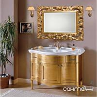 Мебель для ванных комнат и зеркала Gallo Комплект мебели Gallo Iris ORO 110-S Oro foglia IOR-110 мрамор Nero Marquina