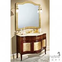 Мебель для ванных комнат и зеркала Gallo Комплект мебели Gallo Iris Bicolore 110-S Argento foglia IB-110 мрамор Nero Marquina