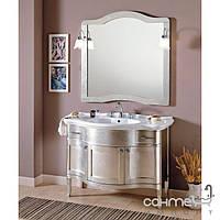 Мебель для ванных комнат и зеркала Gallo Комплект мебели Gallo Iris Argento 110-S Argento foglia IAG-110 мрамор Nero Marquina