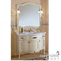 Мебель для ванных комнат и зеркала Gallo Комплект мебели Gallo Iris Patinato 110-S Patinato Avorio IP-110 мрамор Nero Marquina