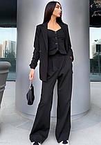 Жіночий класичний брючний костюм трійка: піджак+жилетка+ штани новинка 2021