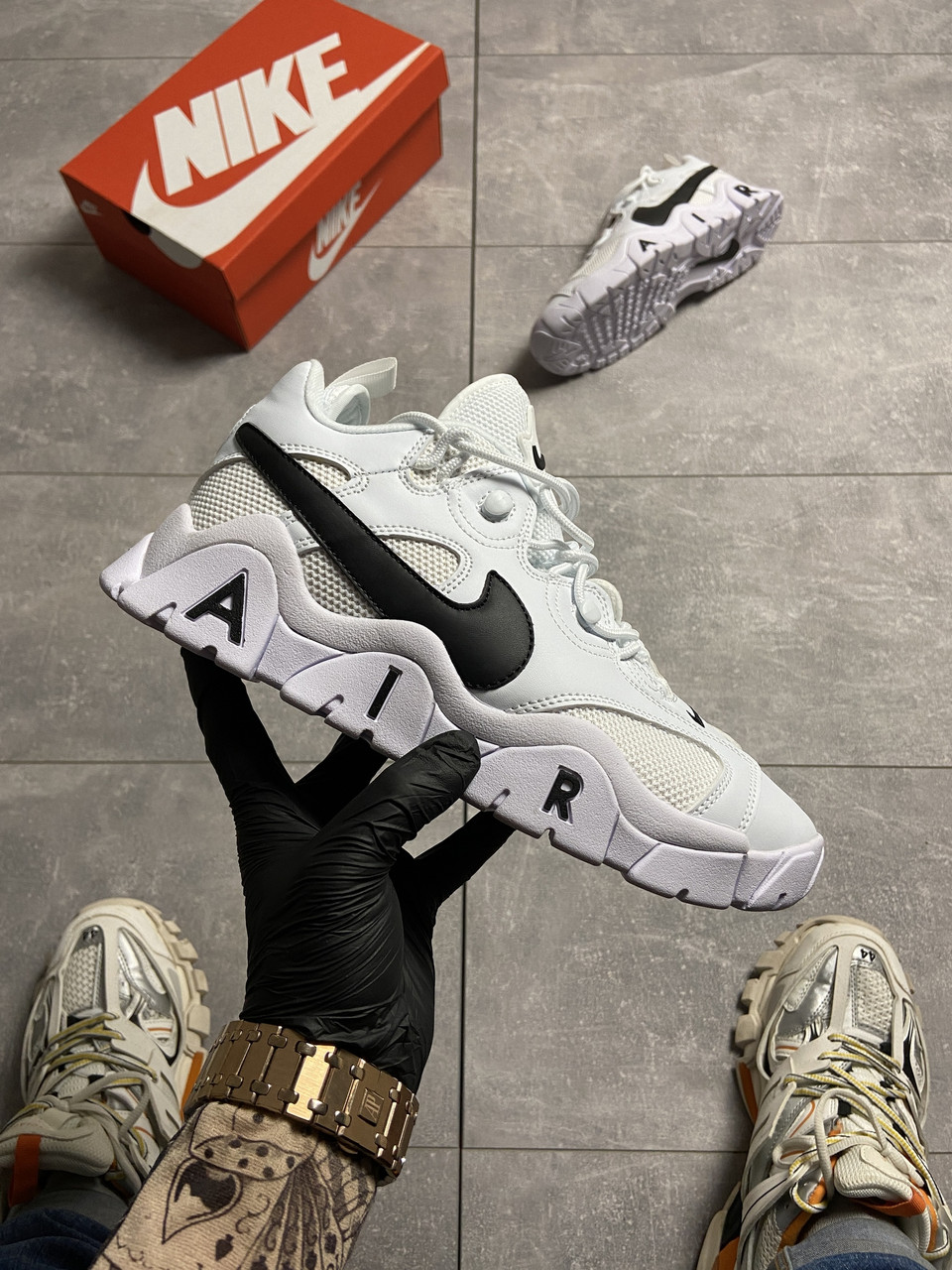 Nike Air Barrage White Black (Білий)