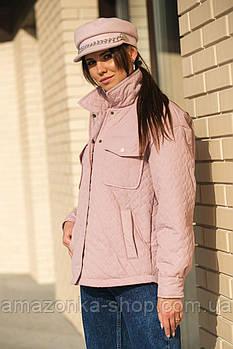 Куртка- рубашки женская стеганная с накладными карманами.