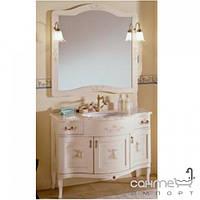 Мебель для ванных комнат и зеркала Gallo Комплект мебели Gallo Iris Decorato 110-S Avorio+Decor ID-110 мрамор Nero Marquina