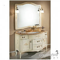 Мебель для ванных комнат и зеркала Gallo Комплект мебели Gallo Iris Decorato 110-S Patinata avorio+Decor СD-110 мрамор Nero Marquina