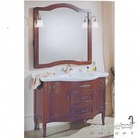 Мебель для ванных комнат и зеркала Gallo Комплект мебели Gallo Calla Inlay 110-S Noce Stracciato CI-110 мрамор Nero Marquina