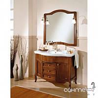 Мебель для ванных комнат и зеркала Gallo Комплект мебели Gallo Alba 110-S Noce Stracciato A-110 мрамор Nero Marquina