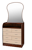 Комод з дзеркалом Барклай 6 ящиків МАКСІ-МЕБЛІ, фото 1