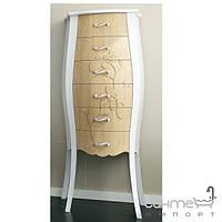 Мебель для ванных комнат и зеркала Gallo Пенал напольный Gallo Gelso Colonna Argento foglia серебро