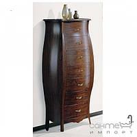 Мебель для ванных комнат и зеркала Gallo Пенал напольный Gallo Isotta Colonna Lacatto Nero черный