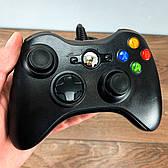 Джойстик Xbox 360 Controller проводной геймпад USB для икс бокс 360 черный