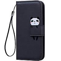 Чехол-книжка Animal Wallet для Samsung A605 Galaxy A6 Plus 2018 Panda