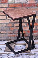 Придиванный столик, приставной Стол из металла Стильный стол Лофт, компьютерный стол
