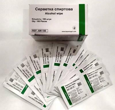Спиртовые салфетки Medicare  100 шт