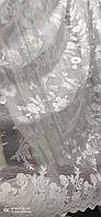 Жакардова тюль на метраж біла, висота 1,8 м ( 162 - 2 ), фото 4