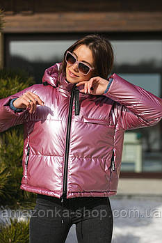 Стильная  перламутровая куртка для женщин весна 2021